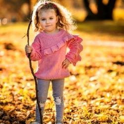 dziewczynka na sesji zdjęciowej