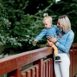 spacer matki z synem