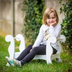wiosenne zdjęcia dziecka