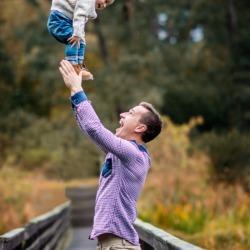 ojciec i syn na zdjęciu