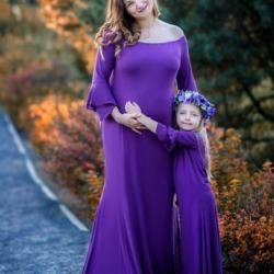 Matka z córką - sesja ciążowa
