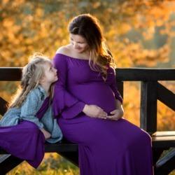 Sesja ciążowa Matka z córką