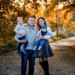 zdjęcia jesienne rodzinne